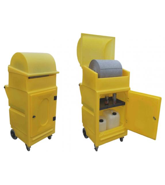 Armoire d'intervention mobile en PE avec 4 roues