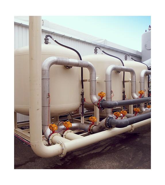 Filtration sur sable et coffrets de mesures de gaz