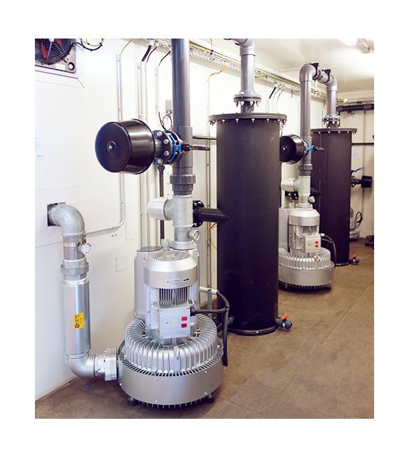 Triple venting et injection d'air chaud